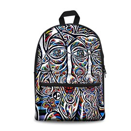 New Fashion 3D Modern Style 2D Drawing from Men Backpack Students School Campus Bags