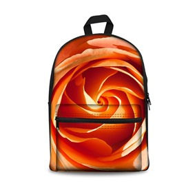 Beautiful Orange Flowers Pattern Washable Lightweight 3D Printed Backpack