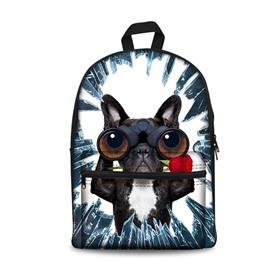 Kids School Backpack For Boys & Girls 3D Bulldogs Face Print Design