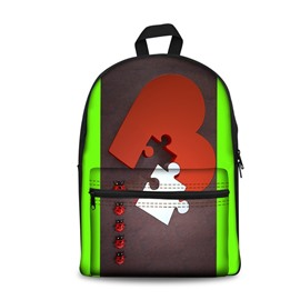 Red Pieces of Heart Pattern Washable Lightweight 3D Printed Backpacks