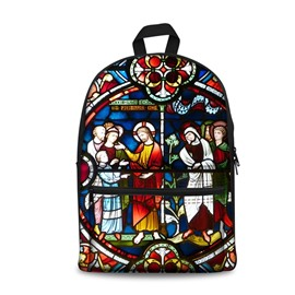 3D Vintage Style Colorful Church Pattern Washable Lightweight School Outdoor Backpack