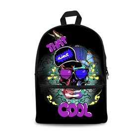 3D Cool Style Skull Design Fashion Pattern School Outdoor Backpack