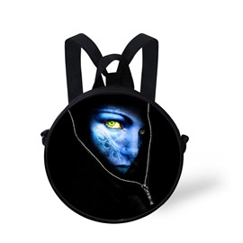 Avatar 3D Pattern Round School Bag Shoulders Backpack