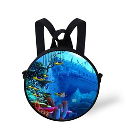 3D Seabed Sunken Ship Printed Fantasy Style Polyester Outdoor Packback