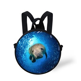 3D Sea Lion Swimming in the Blue Sea Polyester Outdoor Packback