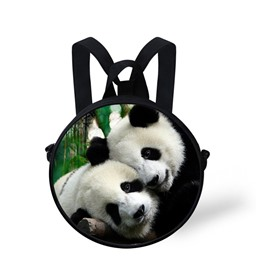 3D Couple Huging Pandas with Love Polyester Outdoor Backpack