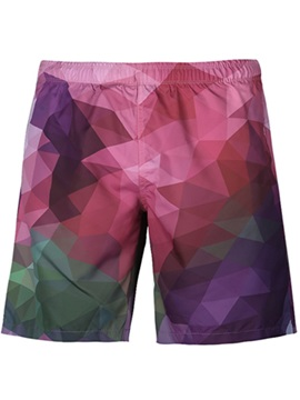 Modest Gradient Pattern Colorful 3D Beach Shorts