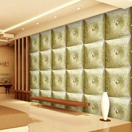 Modern Creative Three-dimensional Plaid Design Living Room Decoration Wall Murals