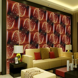 Warm Design Red Plaid Pattern Living Room Decoration Wall Murals