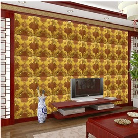 Excellent American Style Square Flower Plaid Pattern TV Background Decoration Wall Murals