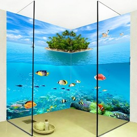 Modern Fishes in the Limpid Sea Pattern Waterproof 3D Bathroom Wall Murals