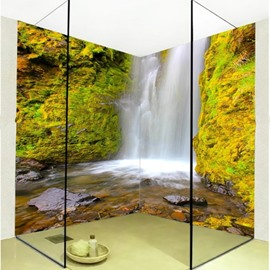 Wonderful Waterfalls Scenery Pattern Waterproof 3D Bathroom Wall Murals