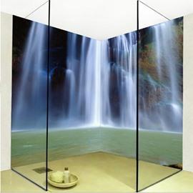 Natural Creative Waterfall Pattern Design Waterproof Splicing 3D Bathroom Wall Murals