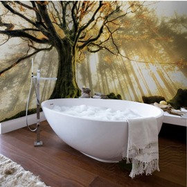 Sunlight Big Tree Pattern Design Decorative Waterproof 3D Bathroom Wall Murals