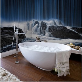Natural Magnificent Waterfalls Scenery Waterproof 3D Bathroom Wall Murals