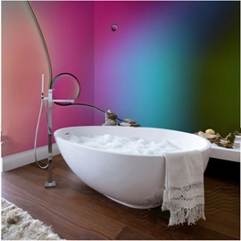 Unique 4 Colors Pattern Design Decorative Waterproof 3D Bathroom Wall Murals