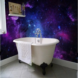 Dreamy European Style Galaxy Starry Sky Pattern Waterproof 3D Wall Murals