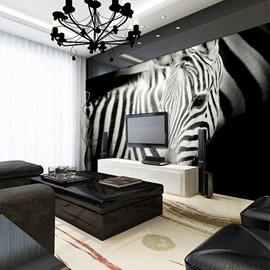 Amusing Lifelike Zebra Pattern Waterproof Splicing 3D Wall Murals