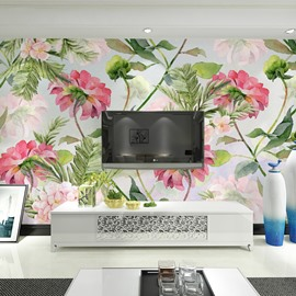 Decorative Beautiful Flowers Pattern Waterproof 3D Wall Murals
