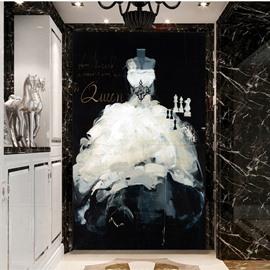Gorgeous White Queen Dress Pattern Decorative 3D Wall Murals