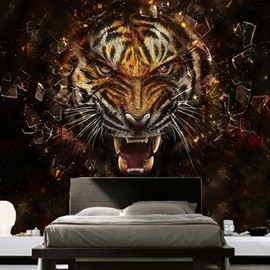 Lifelike Tiger Pattern Design Home Decorative Waterproof Splicing 3D Wall Murals