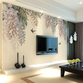 Trees and Birds TV/Sofa Background Waterproof 3D Wall Murals