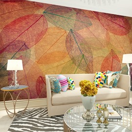 Creative Design Autumn Leaves Pattern Waterproof 3D Wall Murals