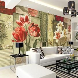 Fabulous Flowers Pattern Design Waterproof Decorative 3D Wall Murals