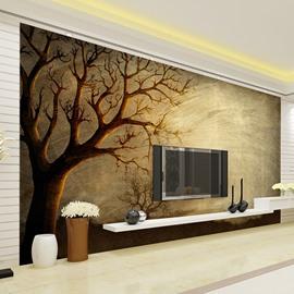 Wonderful Simple Tree Pattern Design Waterproof 3D Wall Murals