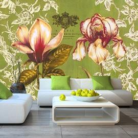 Modern Fashion Flowers Pattern Design Waterproof 3D Wall Murals