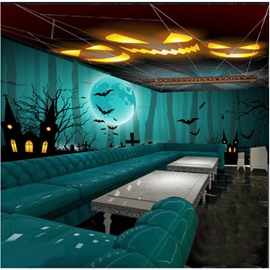 3D Halloween Theme Pattern PVC Waterproof Sturdy Eco-friendly Ceiling and Wall Murals