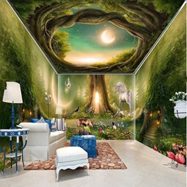 Green Forest 3D Waterproof Ceiling and Wall Murals