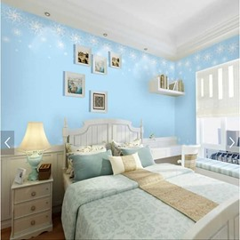 Blue Background with Snow 3D Waterproof Wall Murals