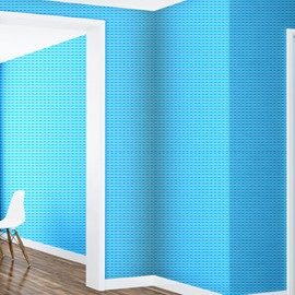 Blue Background with Plaids 3D Waterproof Wall Mural
