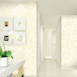 Yellow Lines on White Background 3D Waterproof Wall Mural
