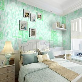 Green Circle and Square Printings 3D Waterproof Wall Mural