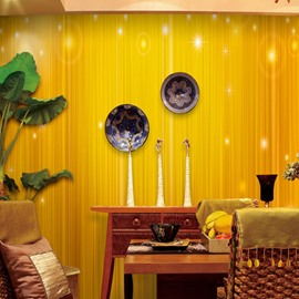 Yellow Background Simple Style Shining Durable Waterproof and Eco-friendly 3D Wall Mural