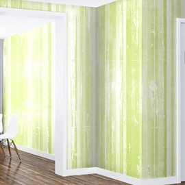 Green and White Background Durable Waterproof and Eco-friendly 3D Wall Mural