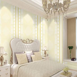 Beige Background with Various Patterns Durable Waterproof and Eco-friendly 3D Wall Mural