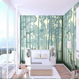 Green Forest Durable Waterproof and Eco-friendly 3D Wall Mural