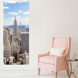 30×79in Architectures and Blue Sky PVC Environmental and Waterproof 3D Door Mural