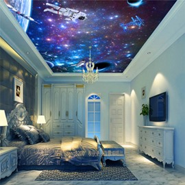 3D Spaceman in Universe Waterproof Durable and Eco-friendly Ceiling Murals