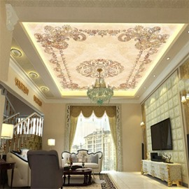 3D Floral Pattern Classic Style Waterproof Durable and Eco-friendly Ceiling Murals