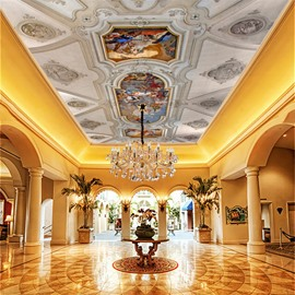 3D Manual Labors Printed in White Ceiling Waterproof Durable and Eco-friendly Ceiling Murals