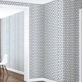 3D Geometry Pattern PVC Sturdy Waterproof Eco-friendly Self-Adhesive Wall Mural