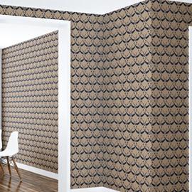 3D Brown Pattern PVC Sturdy Waterproof Eco-friendly Self-Adhesive Wall Mural