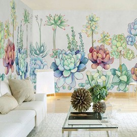 3D Lotus Printed Sturdy Waterproof and Eco-friendly Wall Mural