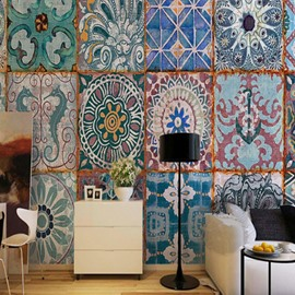 3D Bohemian Pattern Sturdy Waterproof and Eco-friendly Wall Mural
