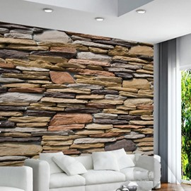 3D Wood Wall Printed Sturdy Waterproof and Eco-friendly Wall Mural