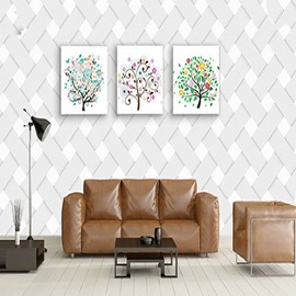 3D White Knits Printed PVC Sturdy Waterproof and Eco-friendly Wall Mural